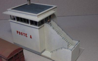 Petit Poste d'aiguillage – Echelle HO Nouvel escalier