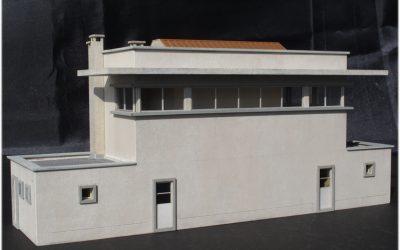 Poste d'aiguillage unifié années 50-60 briques ou béton – Echelle HO