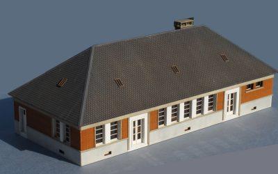 Bâtiment administratif de dépôt – Echelle HO