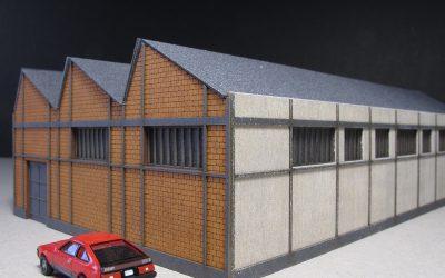 Usine Shed briques creuses (bâtiment complet) – Echelle N –