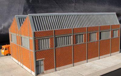 Usine Shed briques creuses (bâtiment complet) – Echelle HO