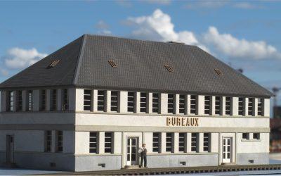 Bâtiment administratif de dépôt R+1 – Echelle HO