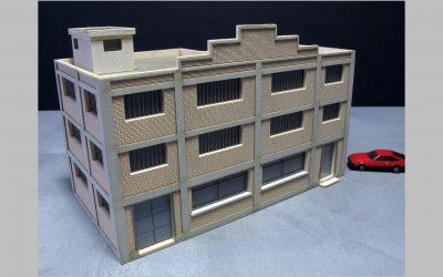 Usine – Entrepôt ossature béton voile briques R+2 – Echelle N