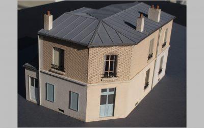 Maison de ville angle pan coupé R+1 – Echelle O