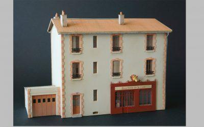 Immeuble de ville R+2 avec parements briques – Echelle HO