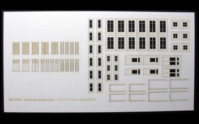 Fenêtres, volets et portes pour maisons de ville (grandes) – Echelle N