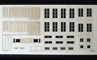 Fenêtres, volets portes maison de ville (moyenne-SudOuest) – Echelle HO