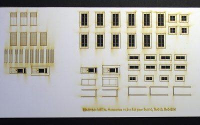 Fenêtres, volets et portes pour maisons de ville (standard) – Echelle N