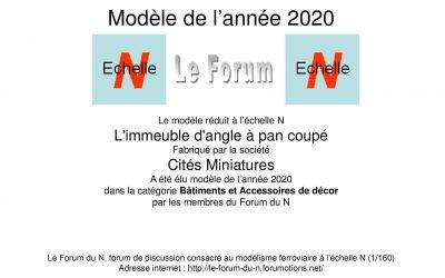 Cités Miniatures : modèle de l'année 2020 sur le Forum du N