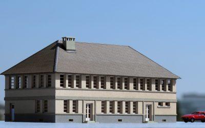 Bâtiment administratif de dépôt R+1 – Echelle N